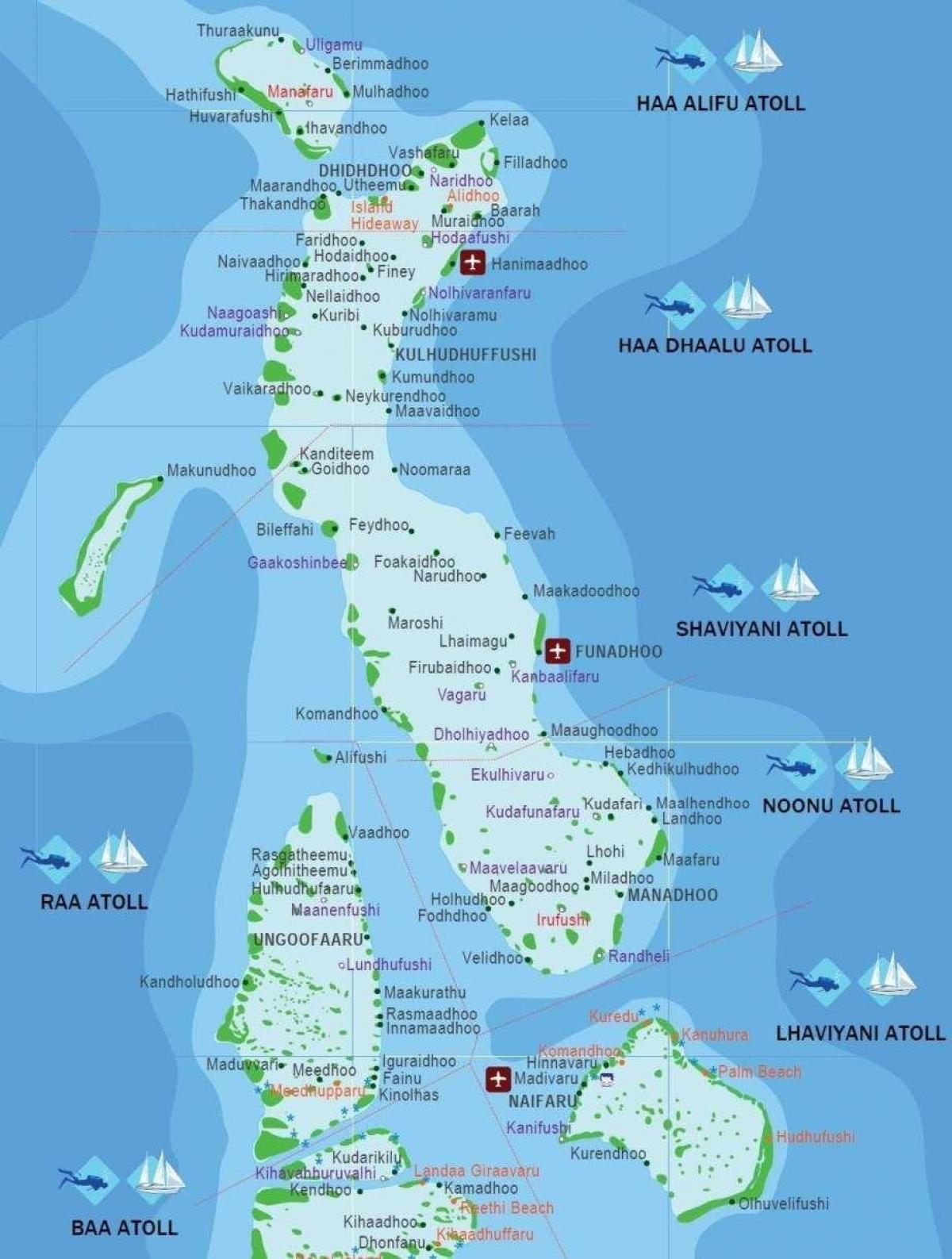Kani Maldiverne Kort Kort Over Kani Maldiverne Sydlige Asien