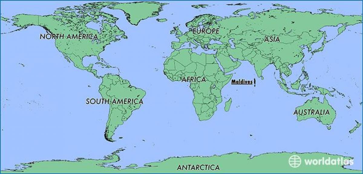 Maldiverne Kort Placering Kort Maldiverne Nabolande Sydlige