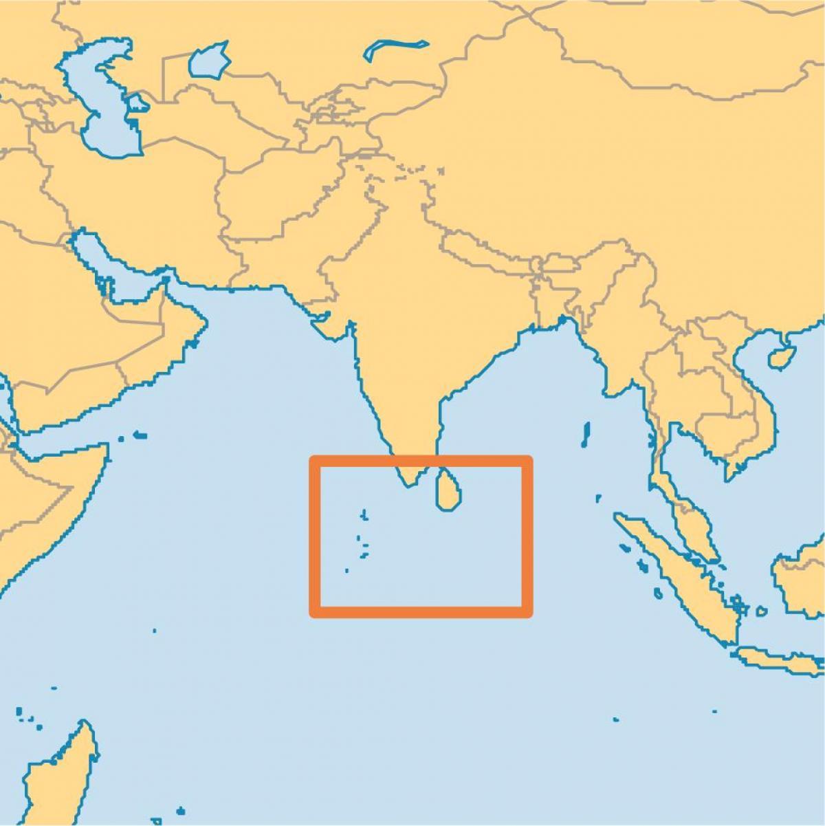 Verden Kort Maldiverne Oer Maldiverne Oen Placering Pa